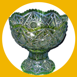 Val St Lambert Crystal Punch Bowl
